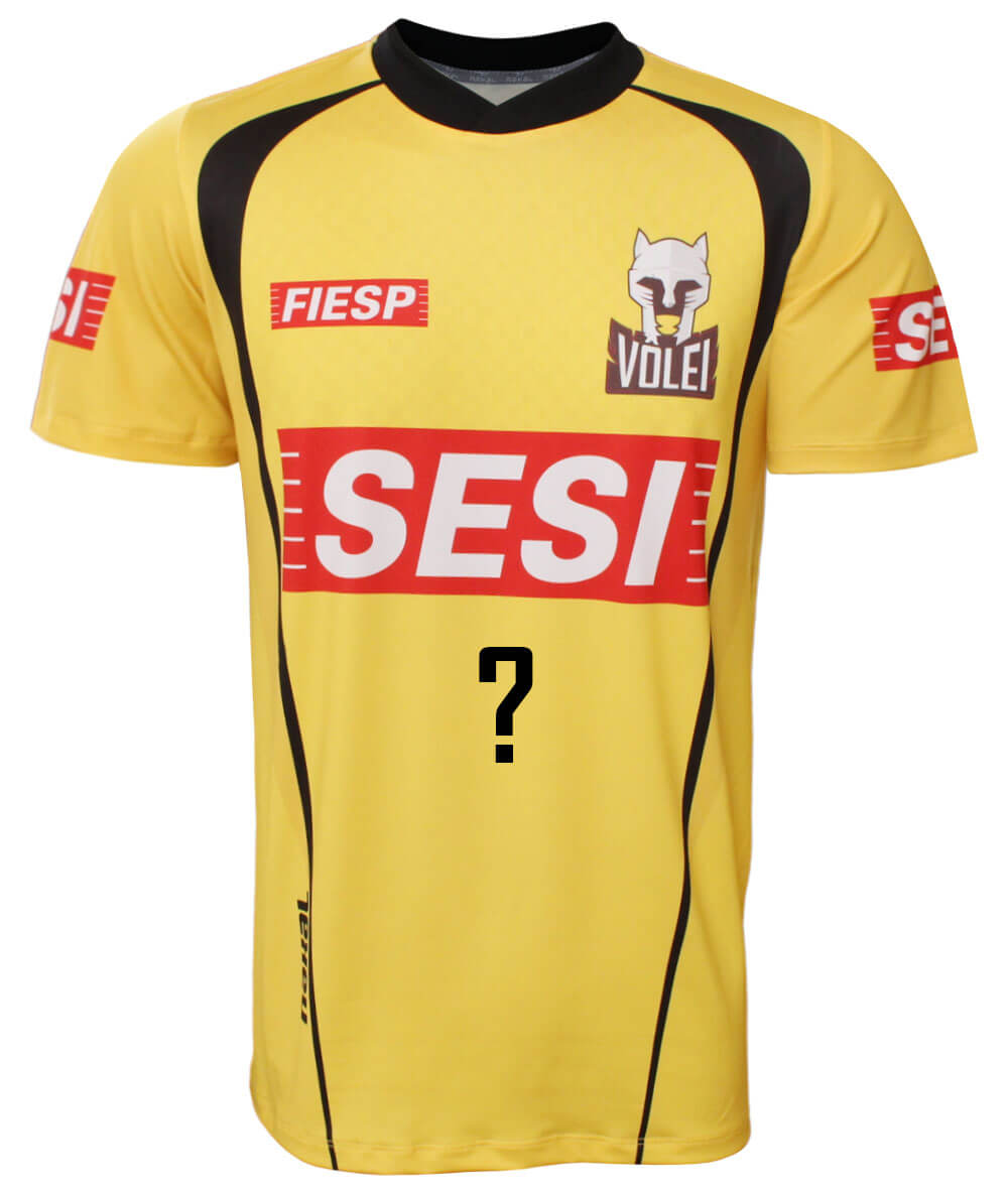 Camisa de Vôlei do Sesi-SP 2020/21 Amarela - Personalizada - Masculina