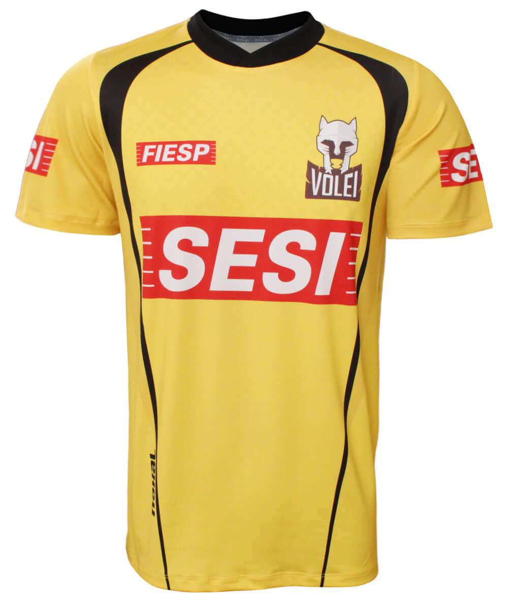 Camisa de Vôlei do Sesi-SP 2020/21 Amarela - S/Nº - Masculina