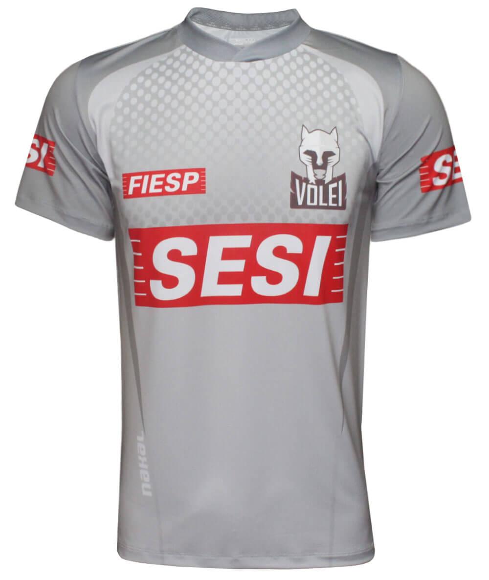Camisa de Vôlei do Sesi-SP 2020/21 Cinza - S/Nº - Masculina