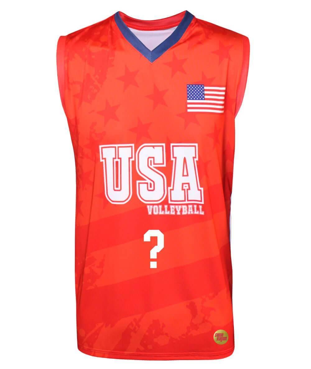 Camisa de Vôlei Estados Unidos 2018/19 Vermelha - Personalizada - Masculina