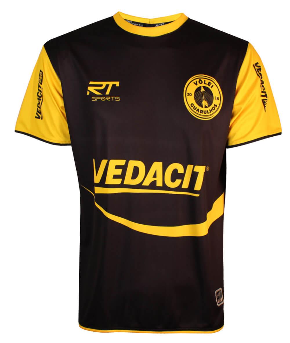 Camisa de Vôlei Guarulhos 2020/21 Preta - S/N° - Masculina