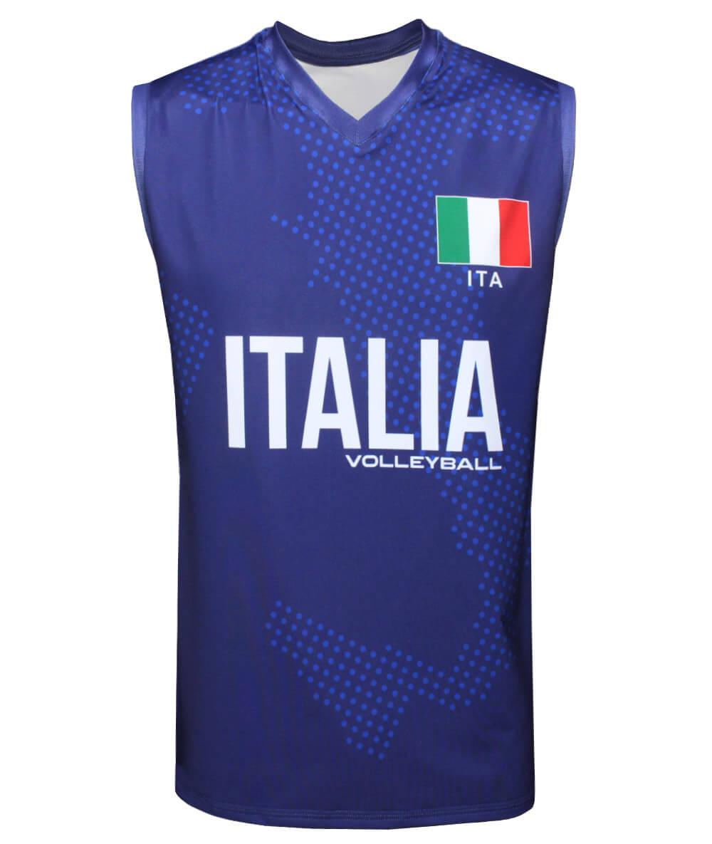 Camisa de Vôlei Itália 2021/22 Marinho - S/Nº - Masculina