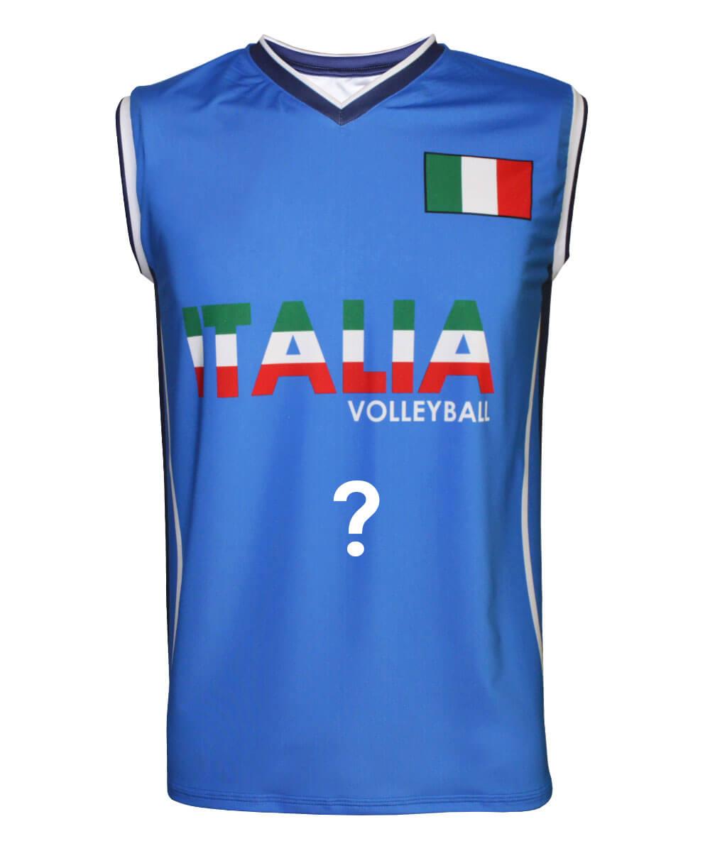 Camisa de Vôlei Itália Azul 2020/21 - Personalizada - Masculina