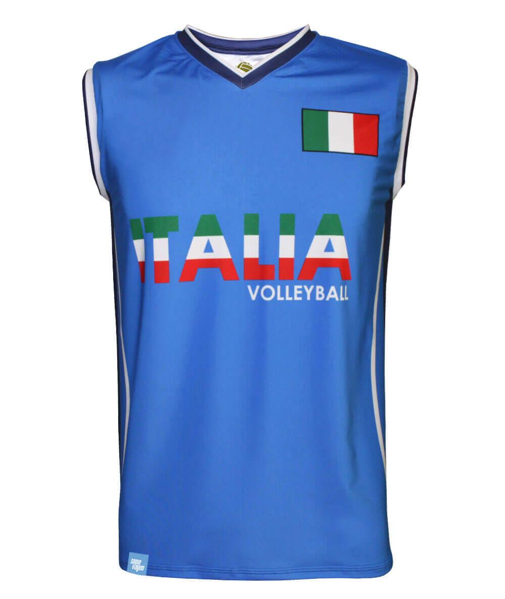 Camisa de Vôlei Itália Azul 2020/21 - S/Nº - Masculina
