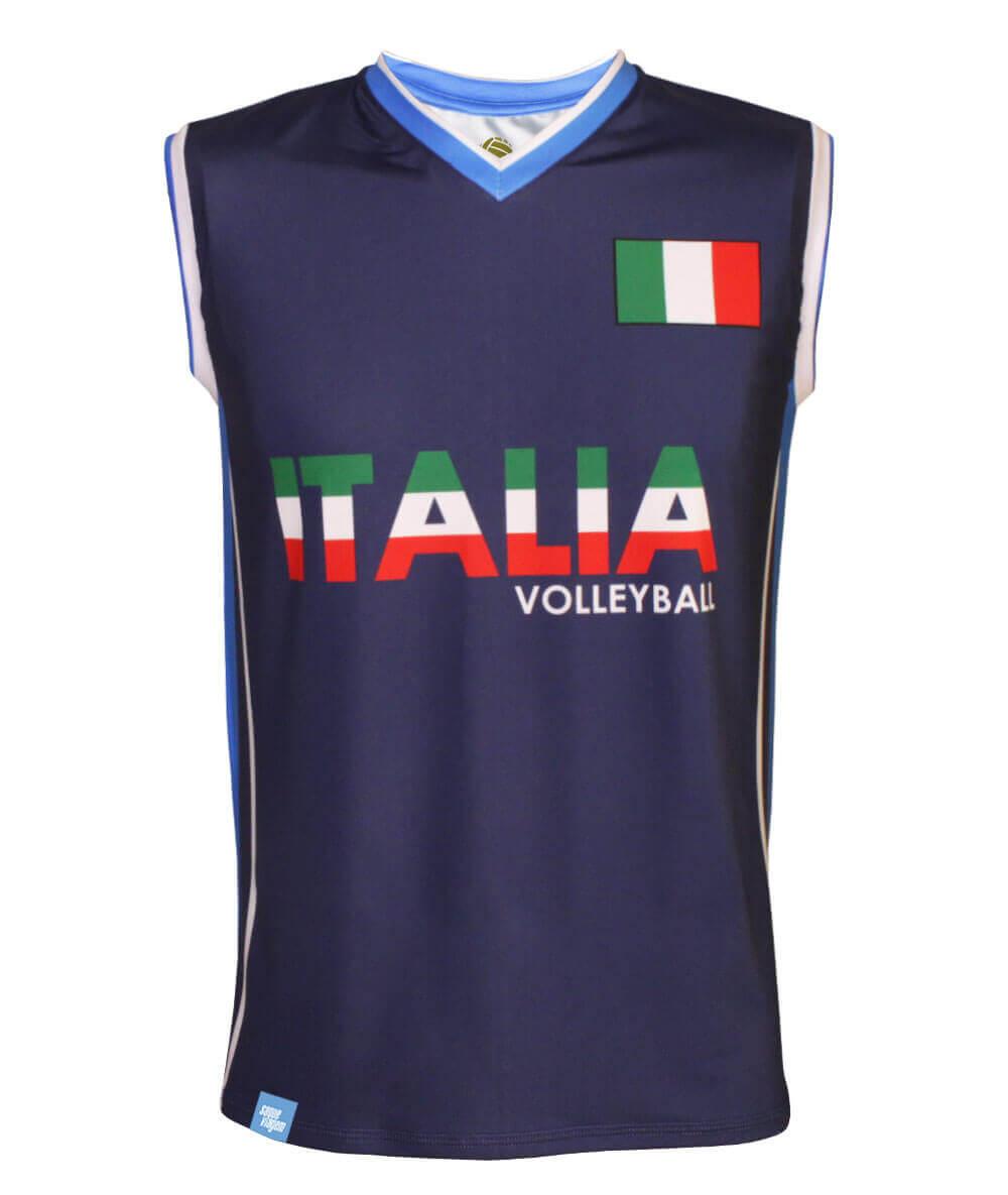 Camisa de Vôlei Itália Marinho 2020/21 - S/Nº - Masculina