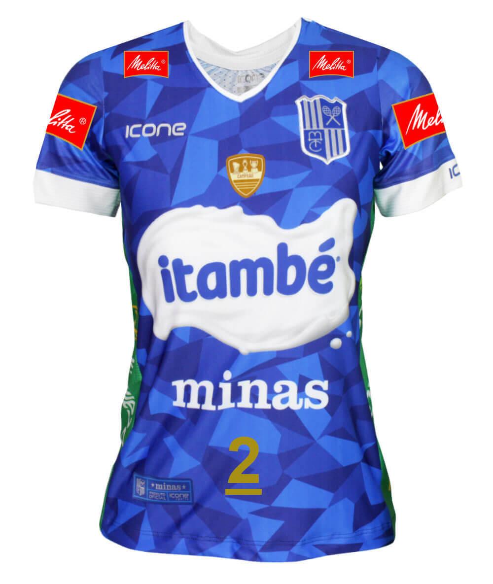 Camisa de Vôlei Itambé/Minas 2019/20 Azul - N°2 Carol Gattaz - Feminina