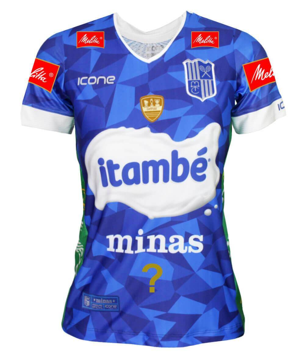 Camisa de Vôlei Itambé/Minas 2019/20 Azul - Personalizada - Feminina