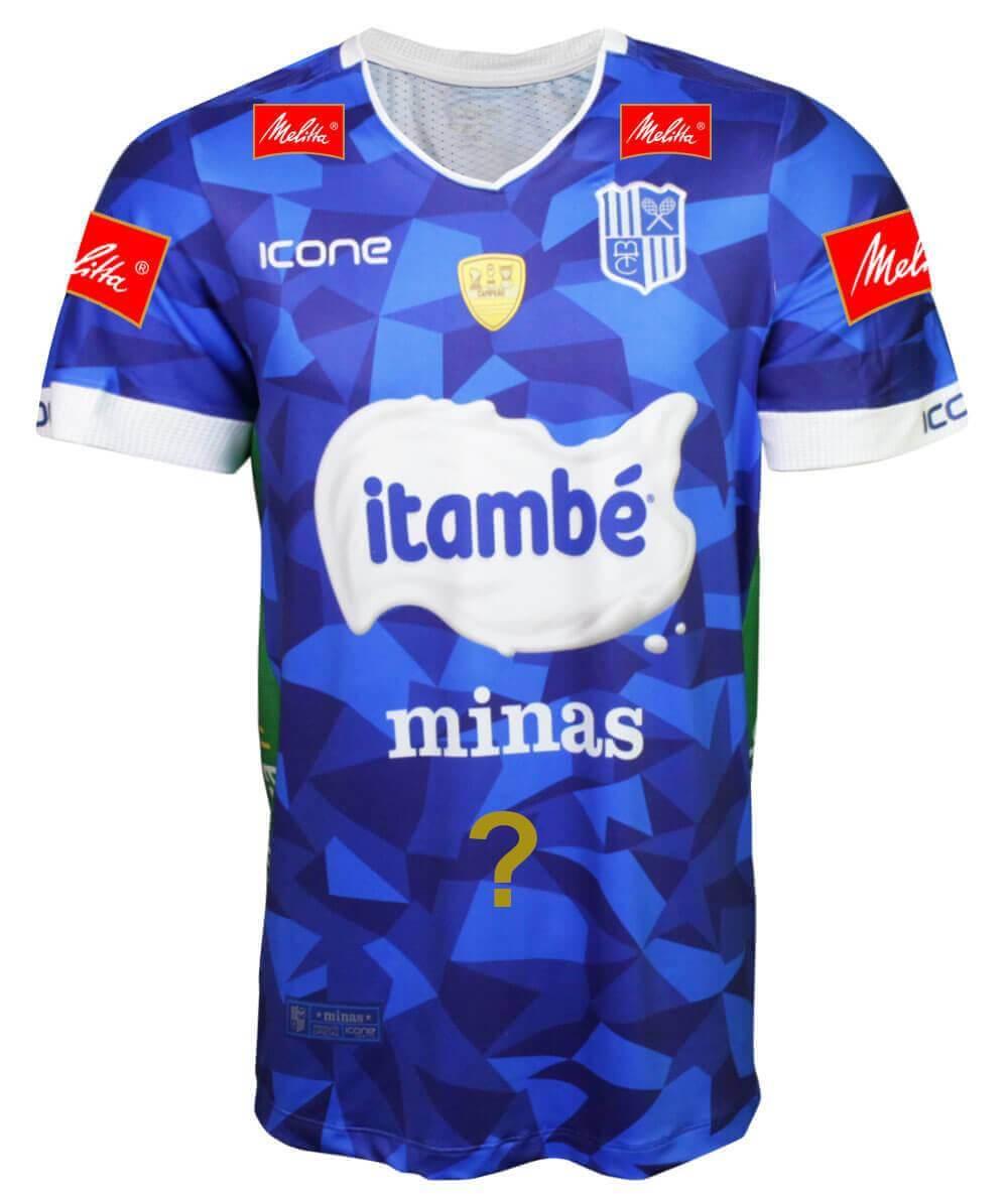 Camisa de Vôlei Itambé/Minas 2019/20 Azul - Personalizada - Masculina