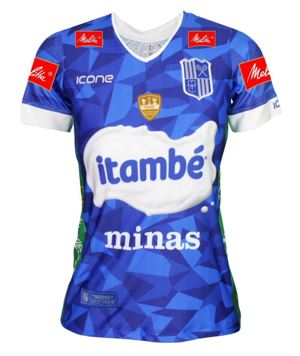 Camisa de Vôlei Itambé/Minas 2019/20 Azul - S/N° - Feminina