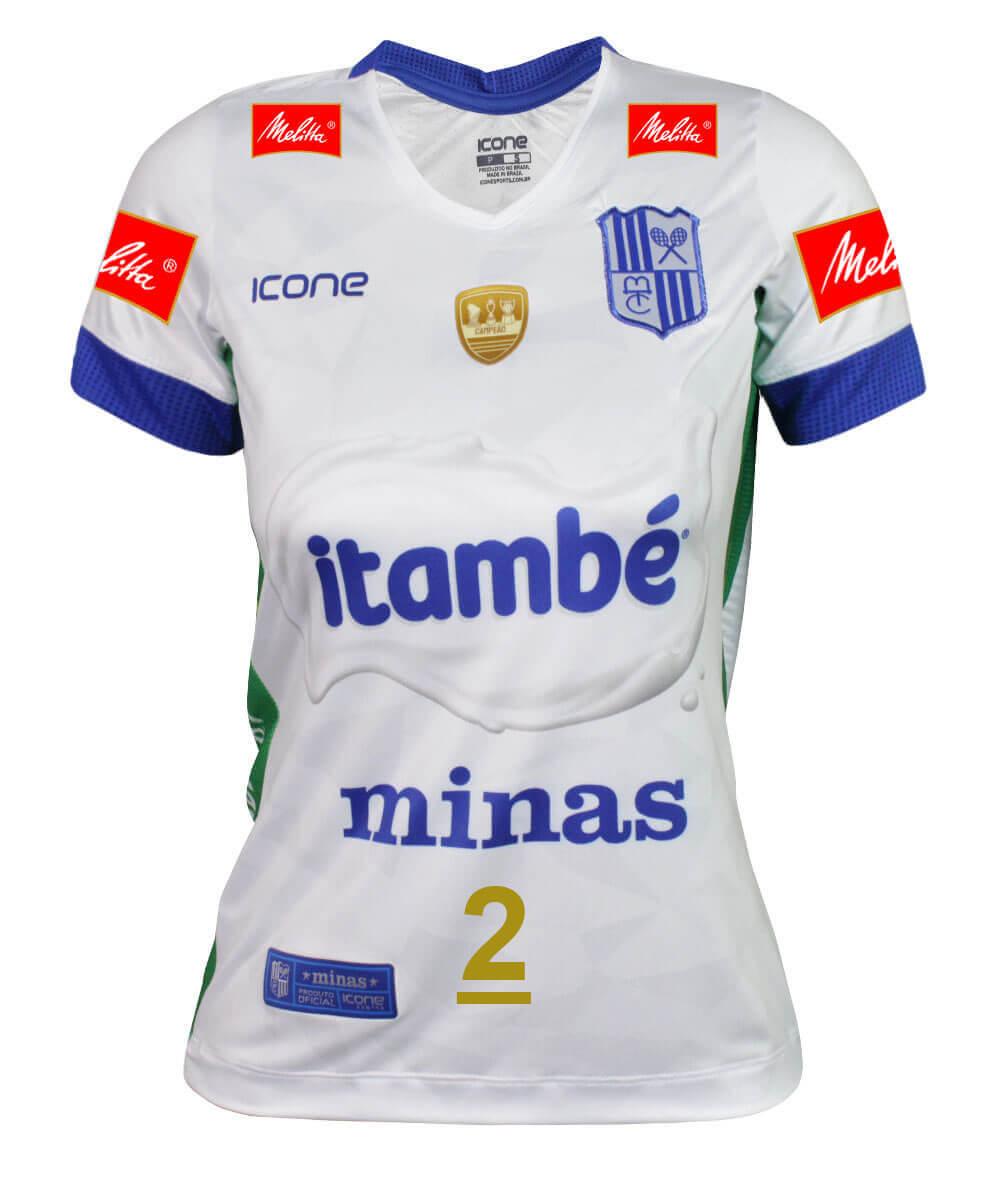 Camisa de Vôlei Itambé/Minas 2019/20 Branca - N°2 Carol Gattaz - Feminina