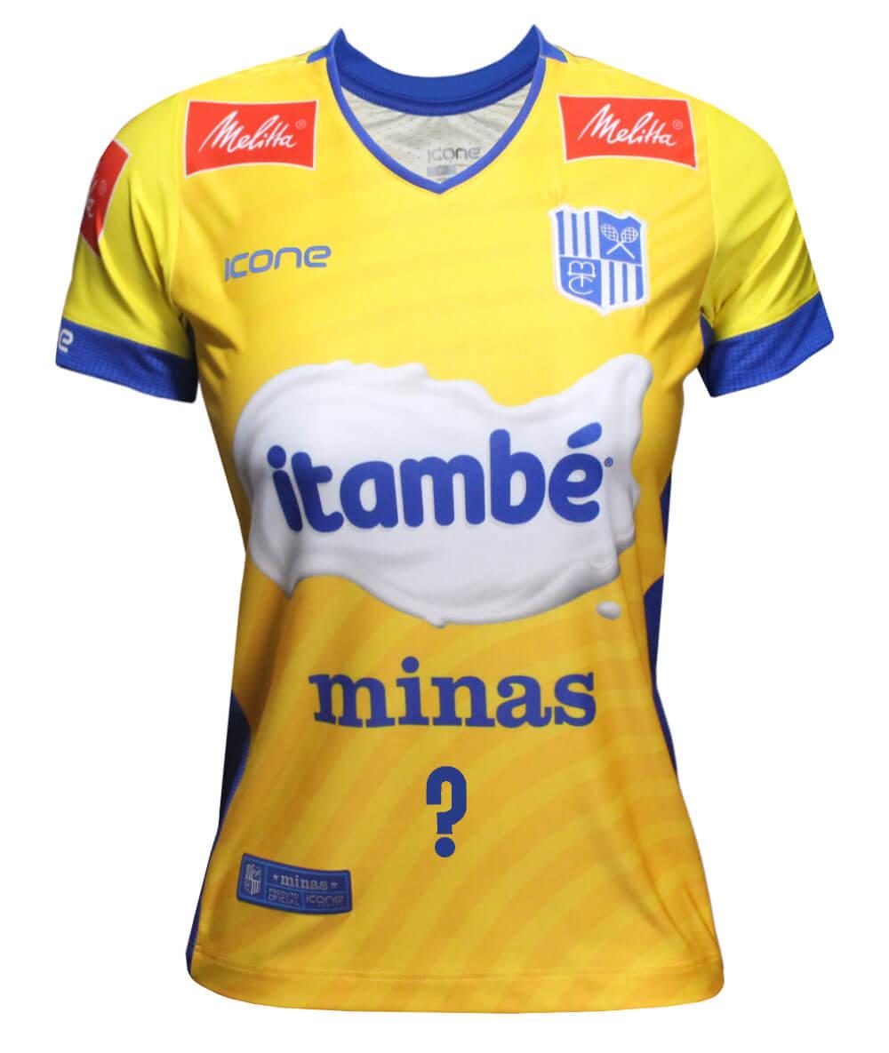 Camisa de Vôlei Itambé/Minas Brasil - Personalizada - Feminina