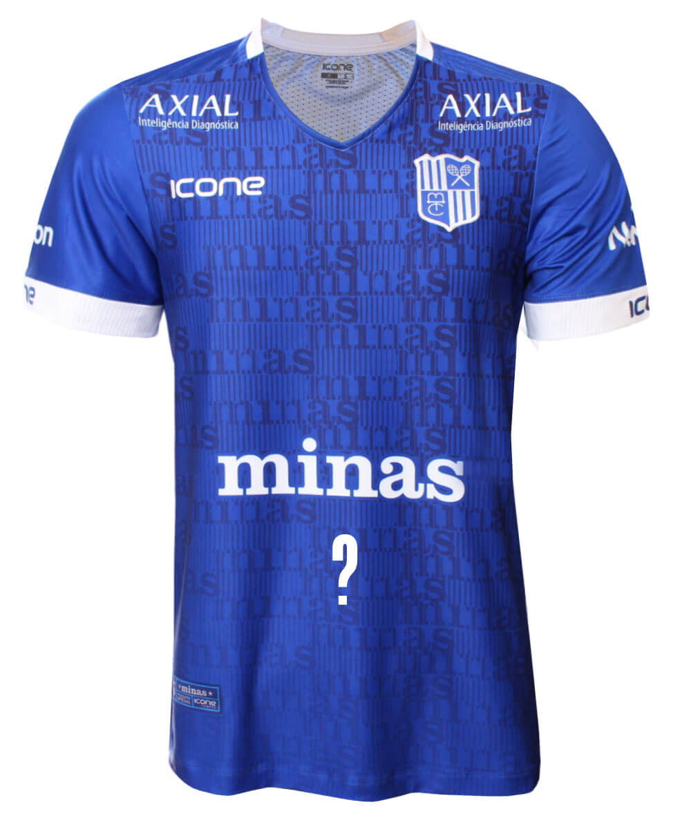Camisa de Vôlei Minas 2020/21 Azul - Personalizada - Masculina
