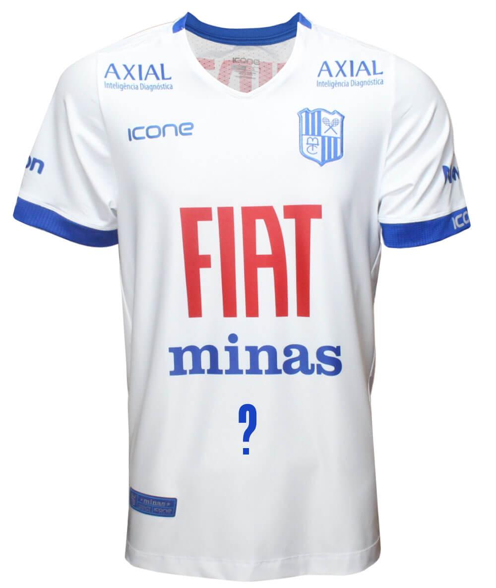 Camisa de Vôlei Minas 2020/21 Branca - Personalizada - Masculina