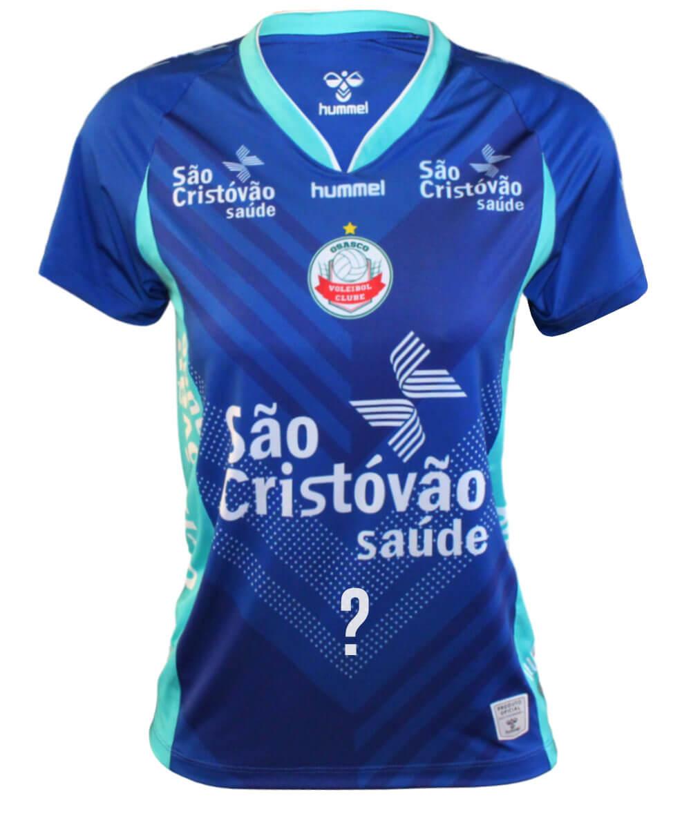 Camisa de Vôlei Osasco 2020/21 Azul - Feminina - Personalizada