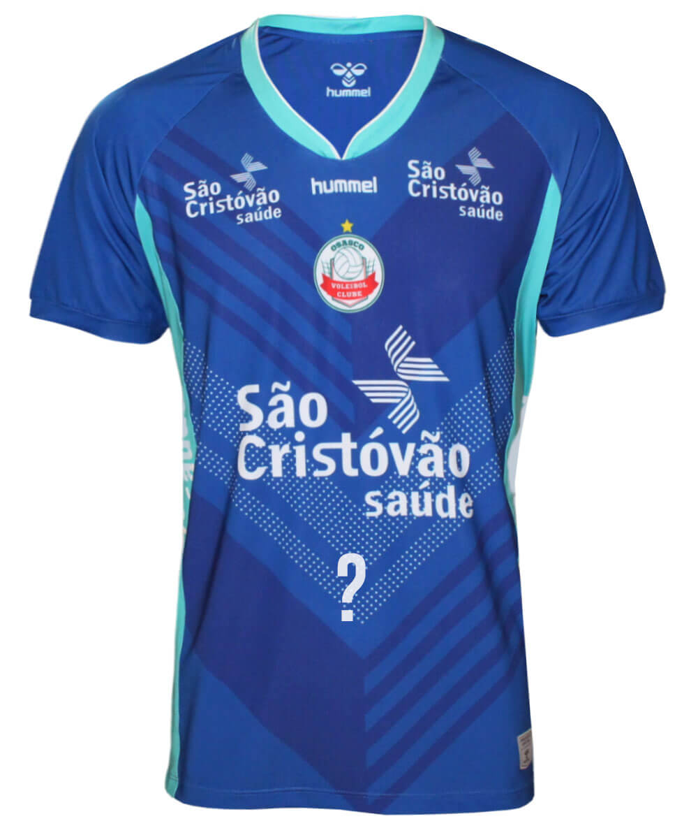 Camisa de Vôlei Osasco 2020/21 Azul - Masculina - Personalizada