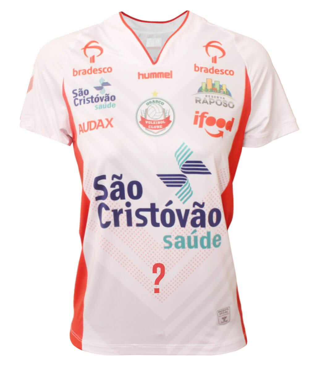 Camisa de Vôlei Osasco 2020/21 Branca - Feminina - Personalizada