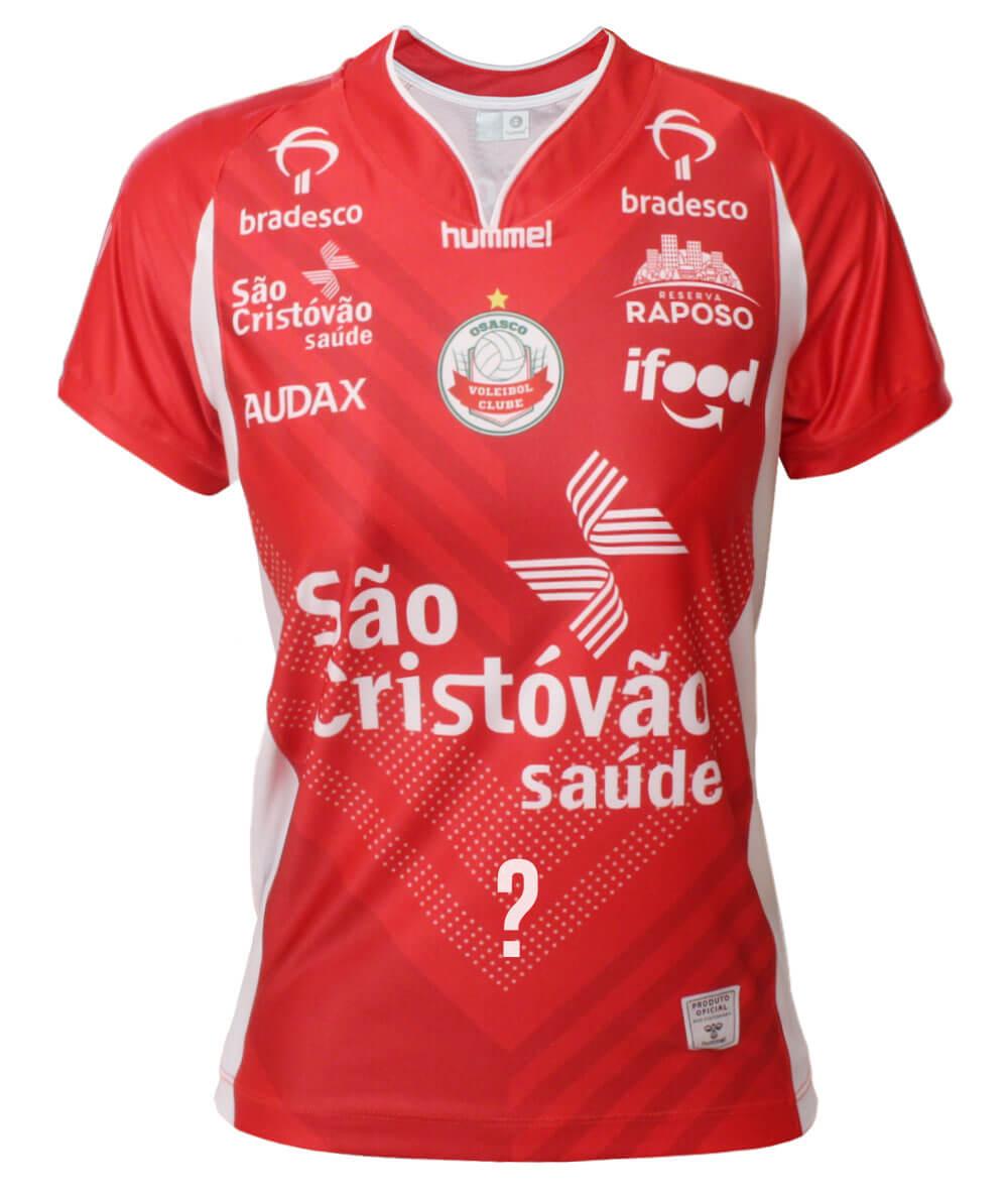 Camisa de Vôlei Osasco 2020/21 Vermelha - Feminina - Personalizada