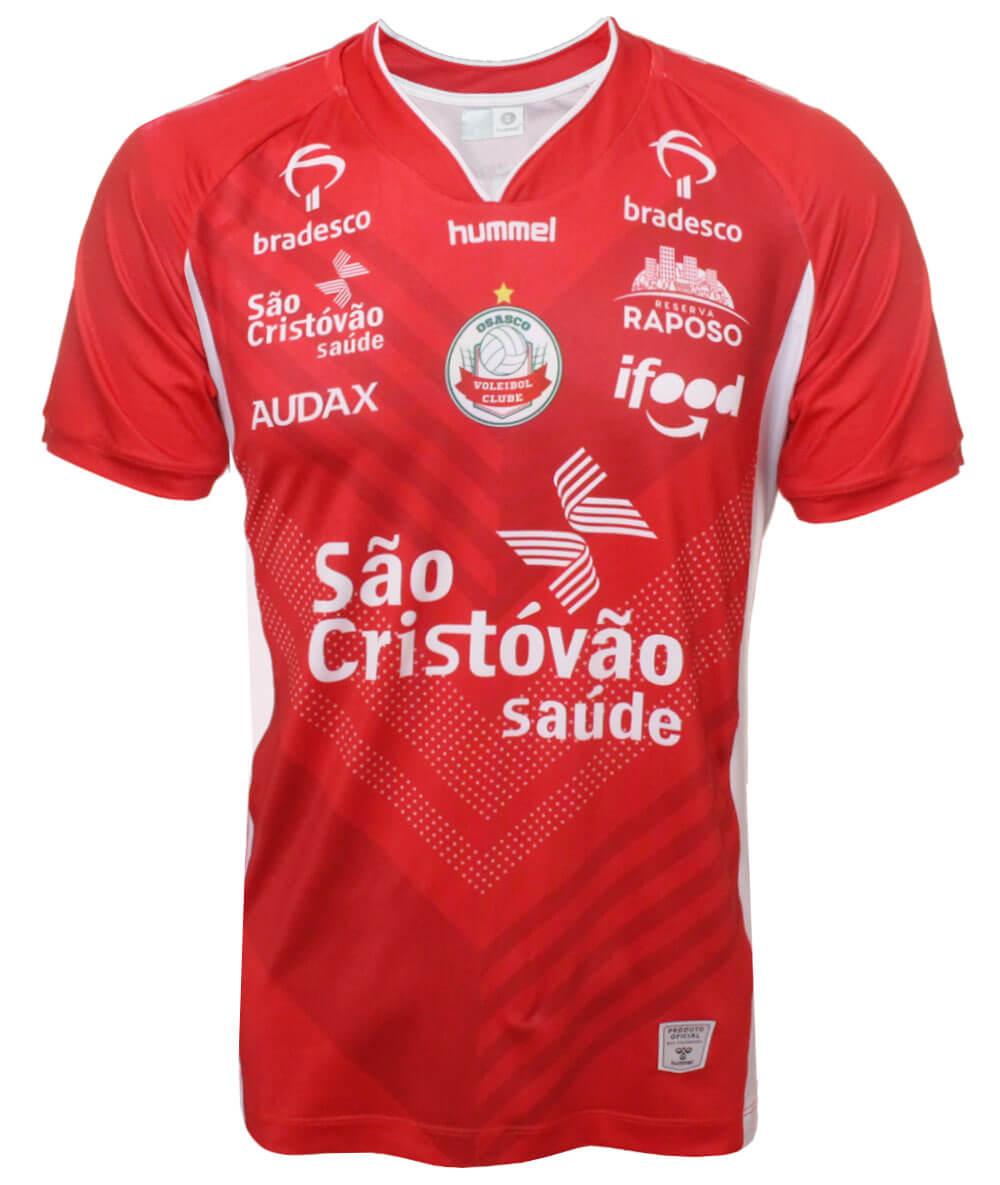Camisa de Vôlei Osasco 2020/21 Vermelha - Masculina
