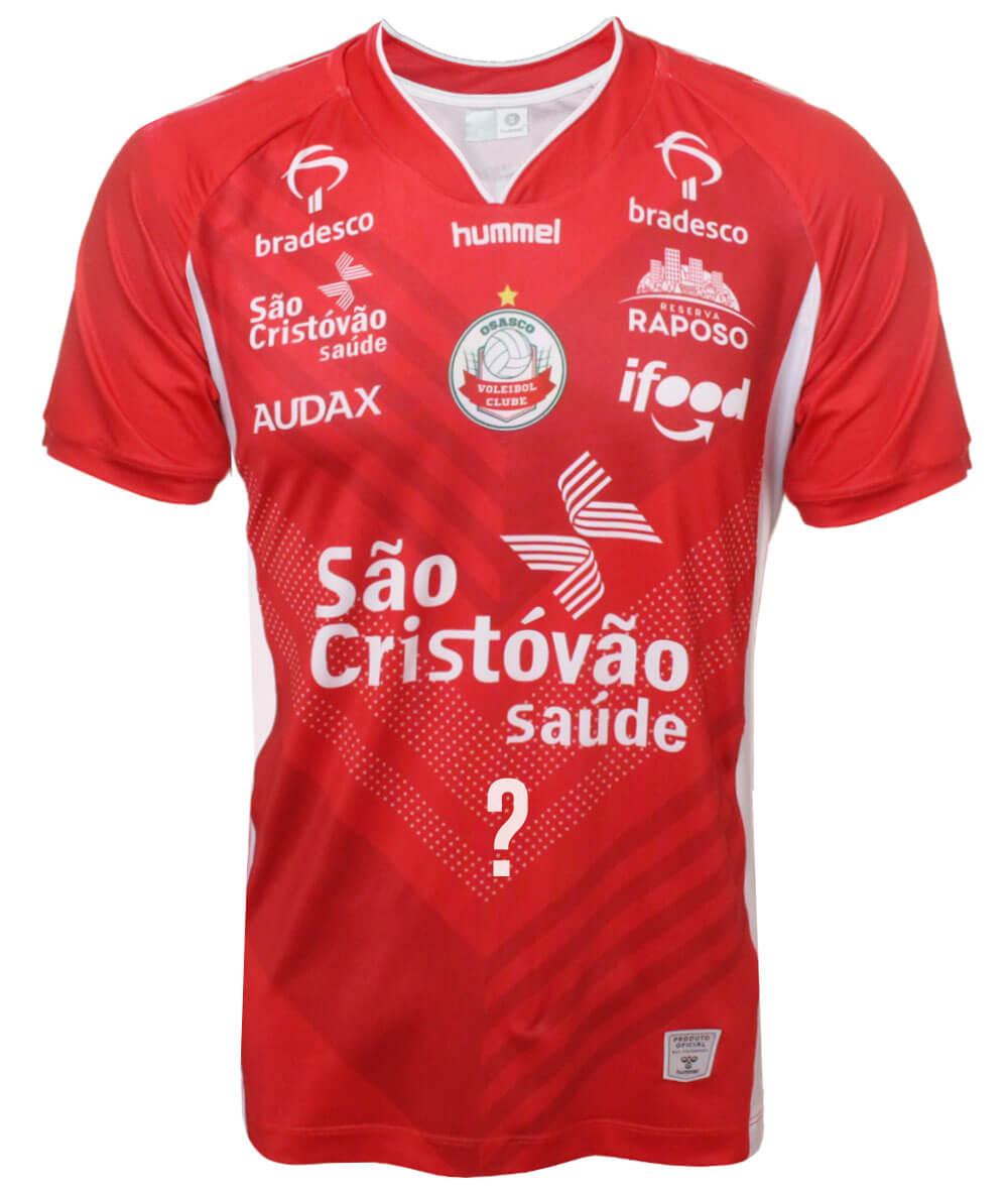 Camisa de Vôlei Osasco 2020/21 Vermelha - Masculina - Personalizada