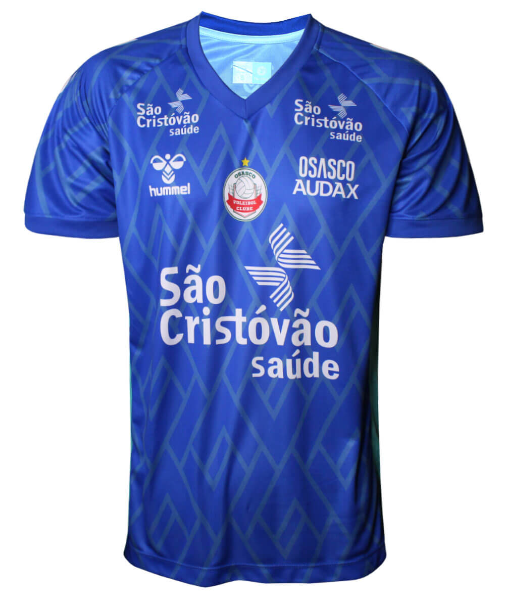 Camisa de Vôlei Osasco-Audax 2019/20 Azul Líbero - Masculina - LINHA TORCEDOR
