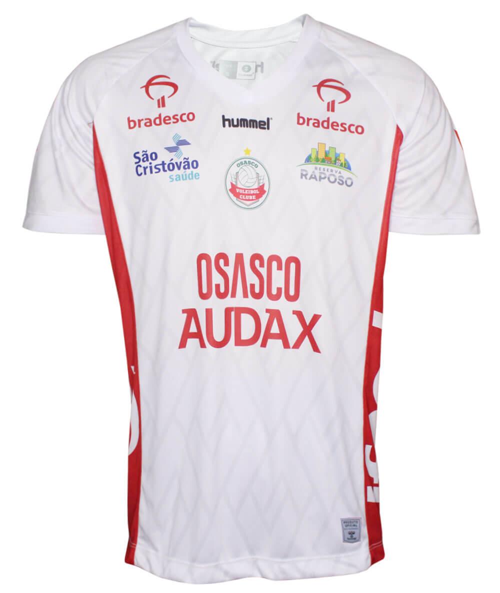 Camisa de Vôlei Osasco-Audax 2019/20 Branca - Masculina - LINHA JOGADORA