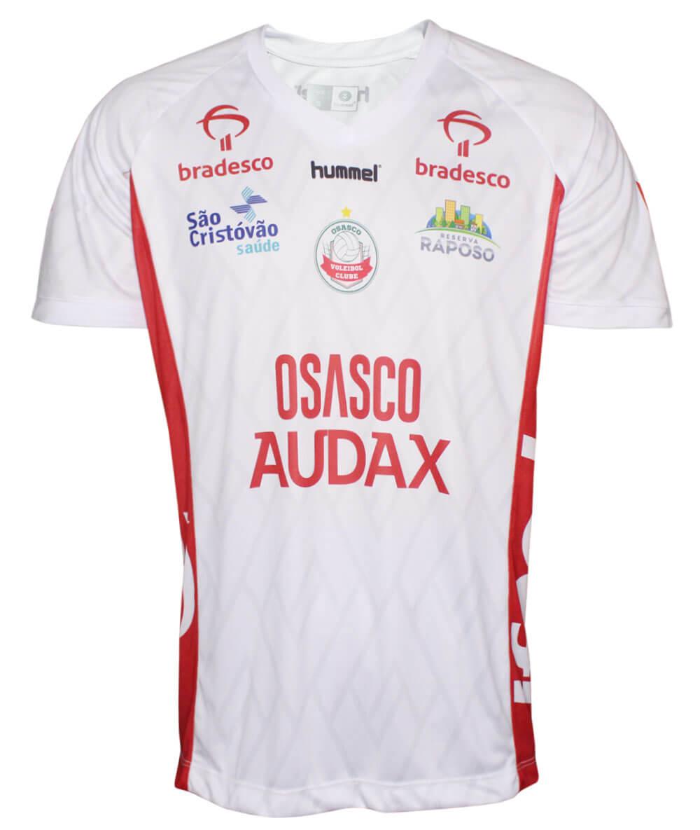 Camisa de Vôlei Osasco-Audax 2019/20 Branca - Masculina - LINHA TORCEDOR