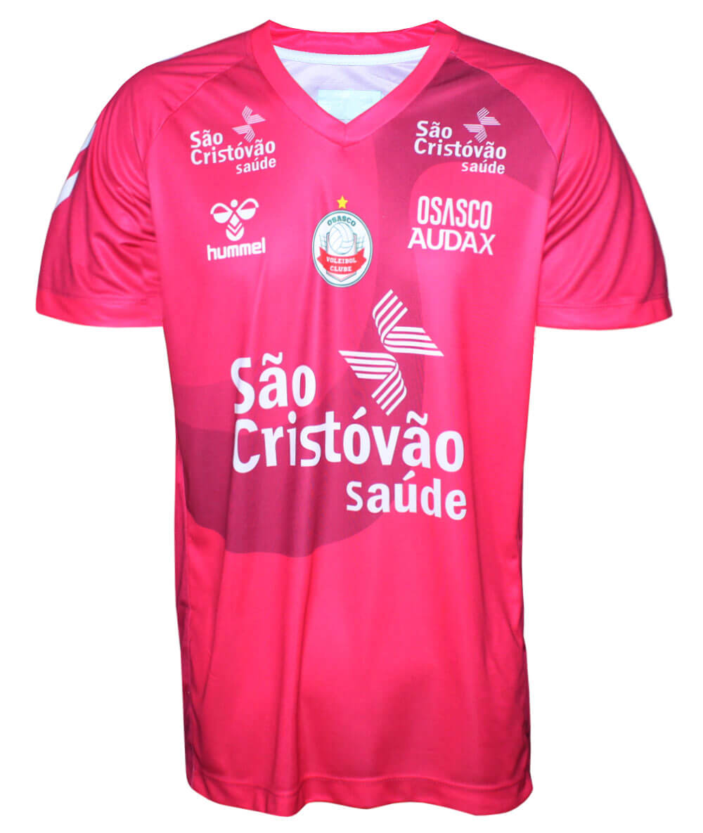Camisa de Vôlei Osasco-Audax 2019/20 Rosa Líbero - Masculina - LINHA TORCEDOR