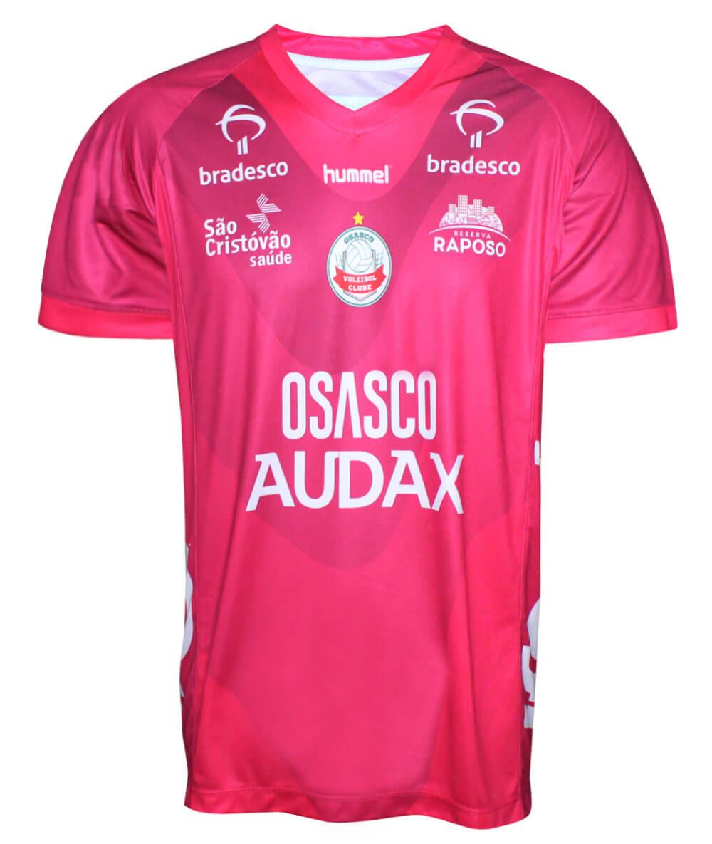 Camisa de Vôlei Osasco-Audax 2019/20 Rosa - Masculina - LINHA TORCEDOR