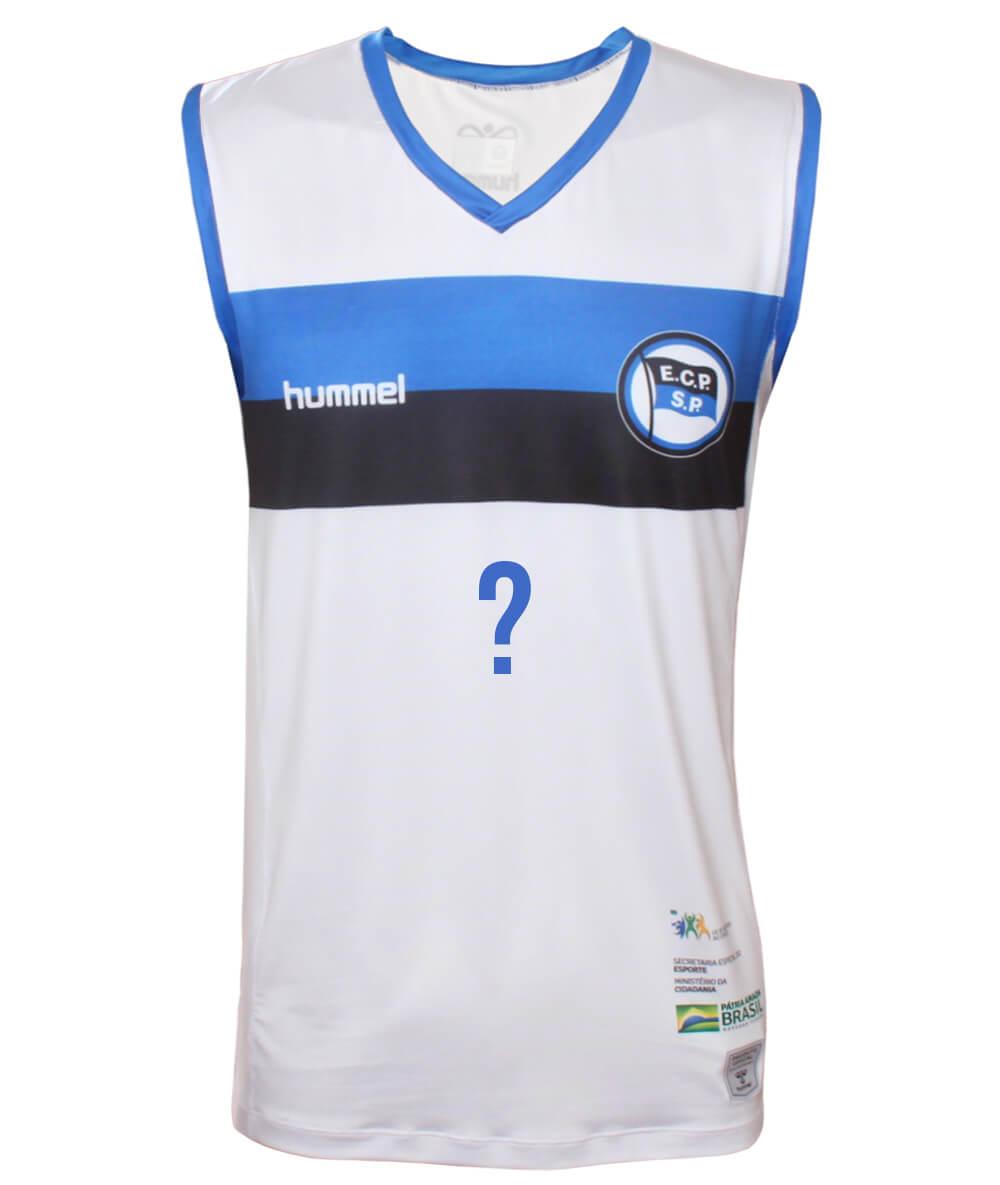 Camisa de Vôlei Pinheiros 2020/21 Branca - Personalizada - Masculina
