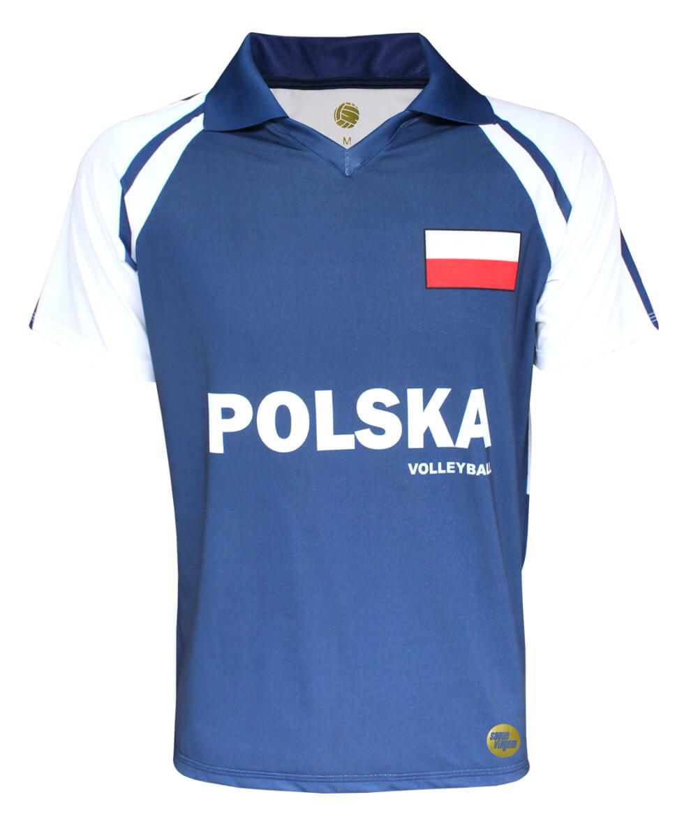 Camisa de Vôlei Polônia II - S/Nº - Masculina