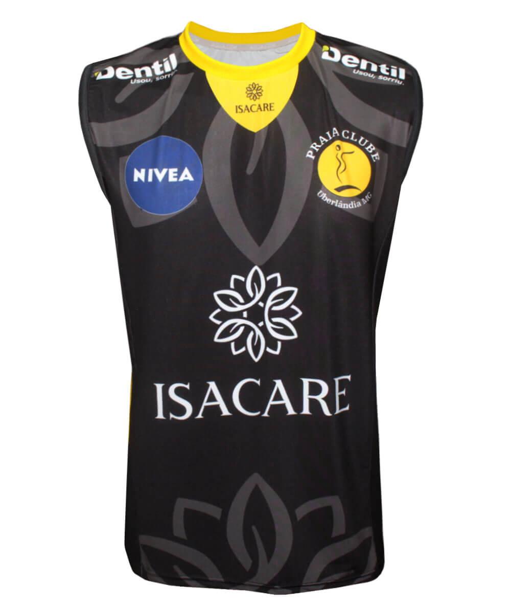 Camisa de Vôlei Praia Clube 2020/21 Preta - S/N° - Masculina