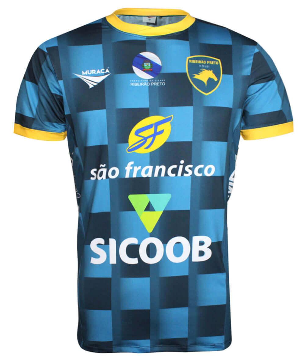 Camisa de Vôlei Ribeirão Preto 2019/20 Azul - S/Nº - Masculina