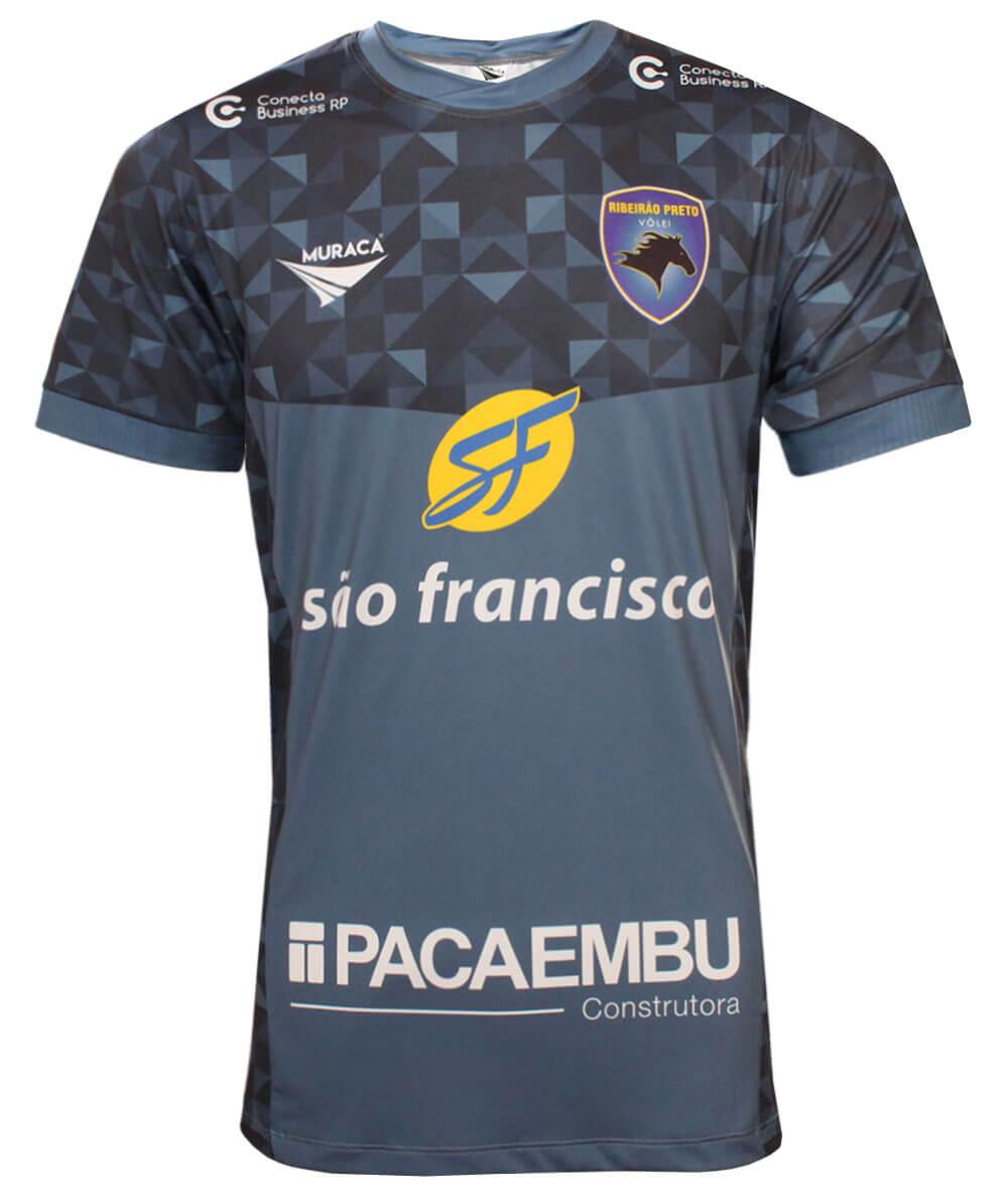 Camisa de Vôlei Ribeirão Preto 2020/21 Azul - S/Nº - Masculina