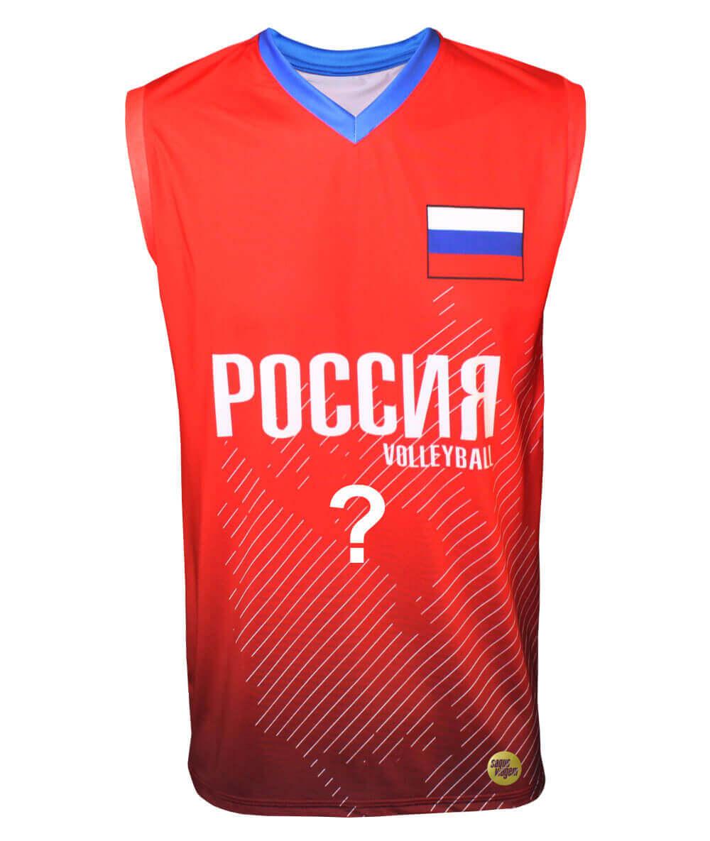 Camisa de Vôlei Rússia 2018/19 Vermelha - Personalizada - Masculina