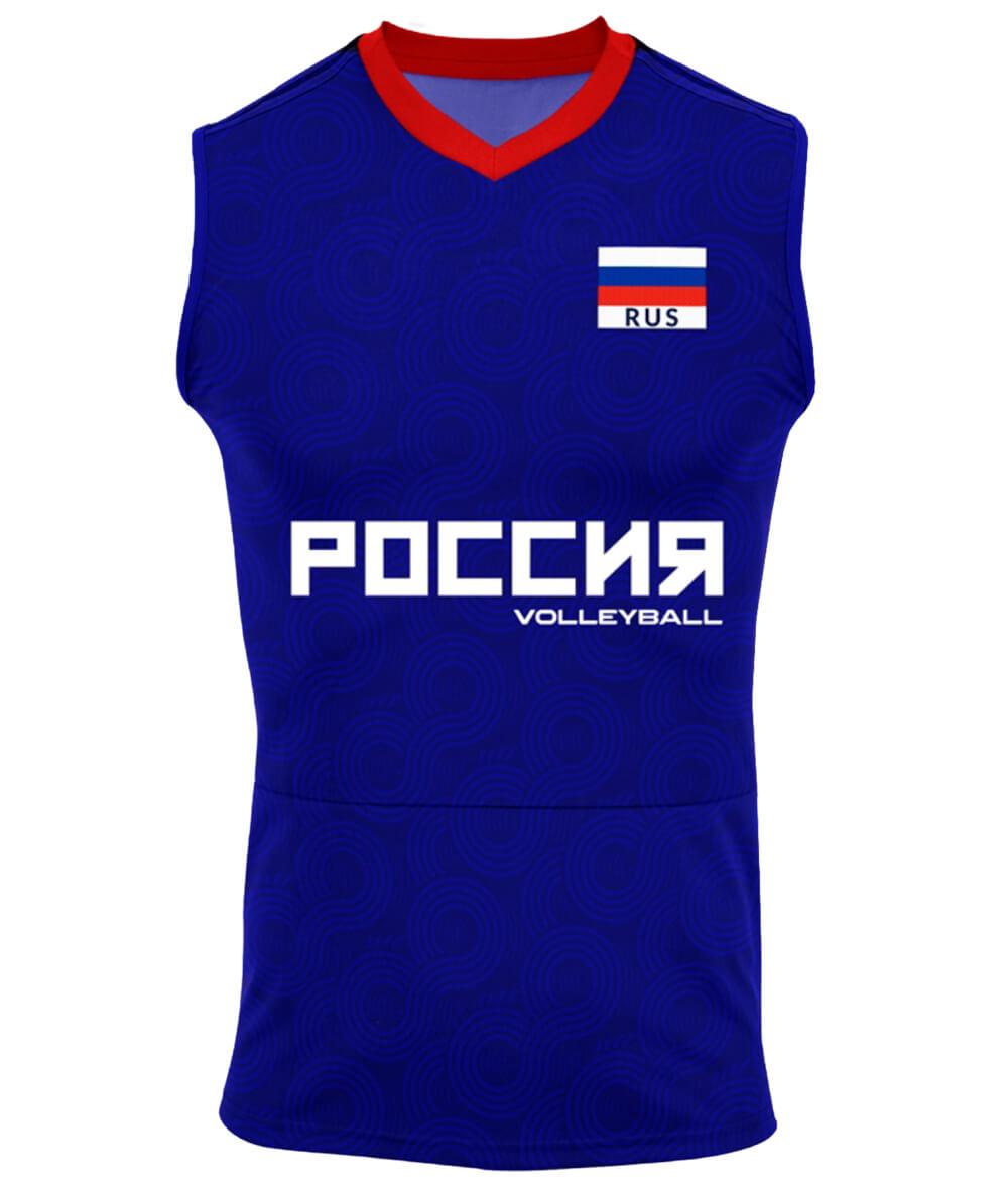 Camisa de Vôlei Rússia 2021/22 Azul - S/Nº - Masculina
