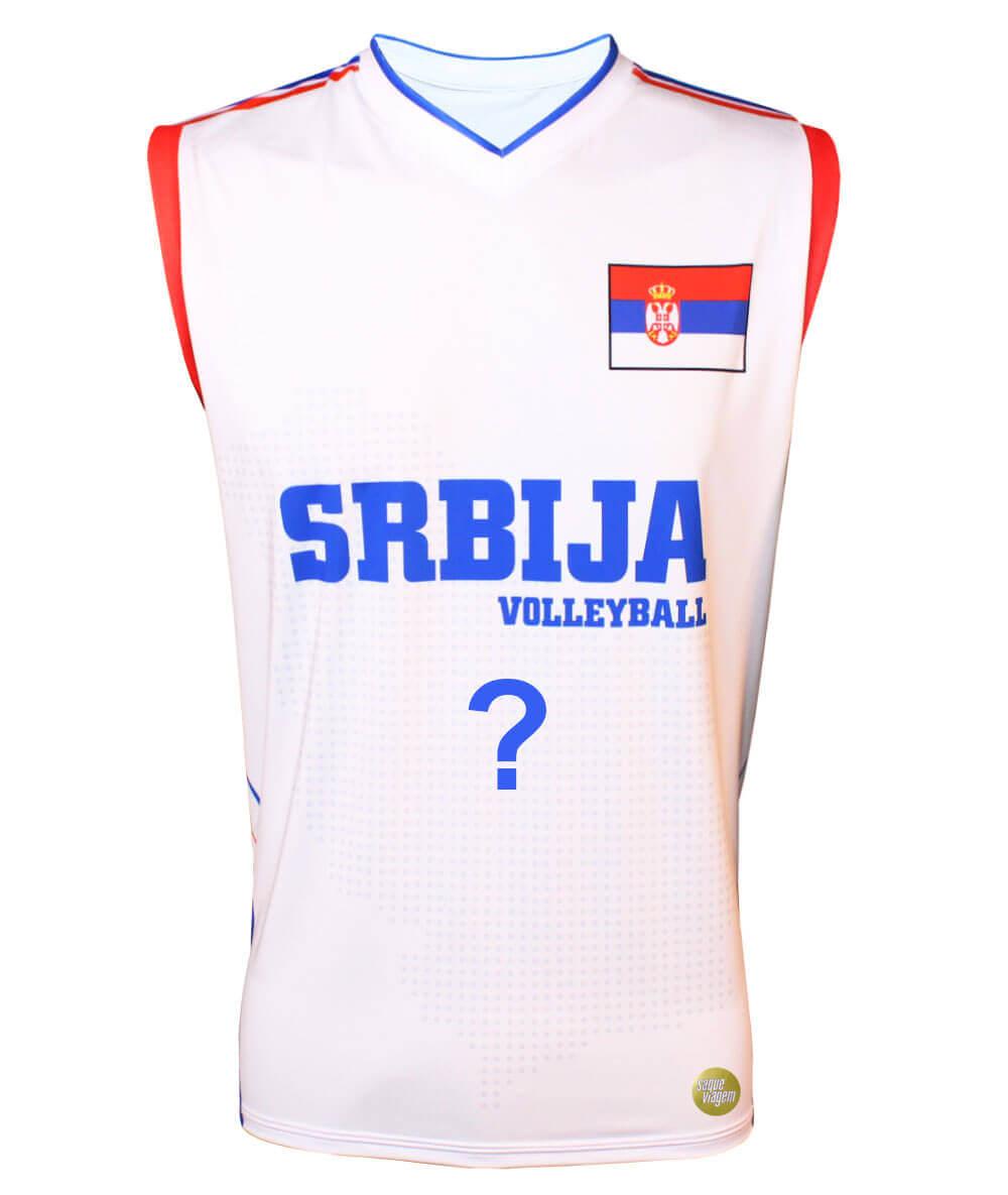 Camisa de Vôlei Sérvia 2018/19 Branca - Personalizada - Masculina