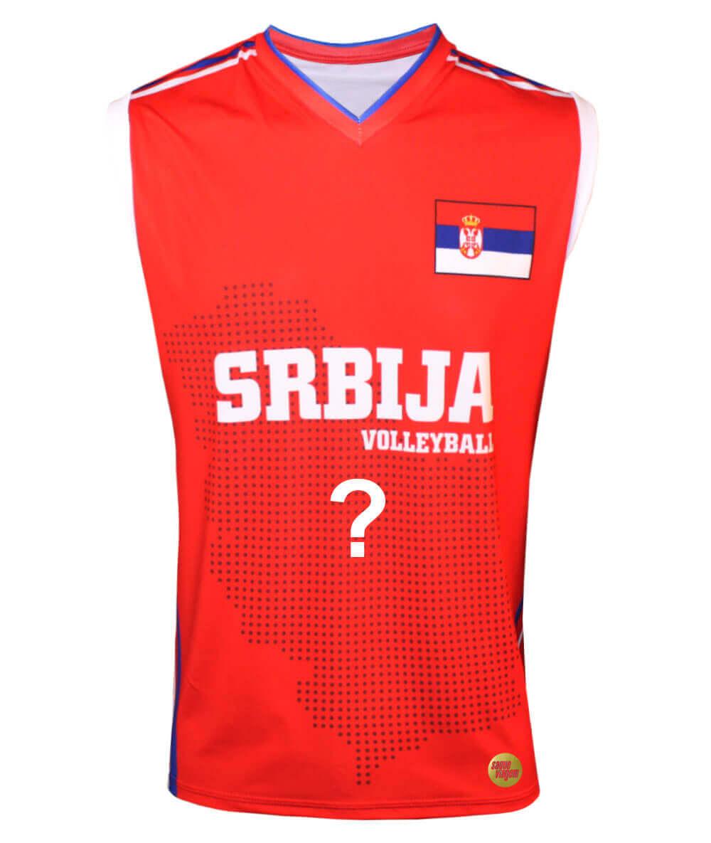 Camisa de Vôlei Sérvia 2018/19 Vermelha - Personalizada - Masculina