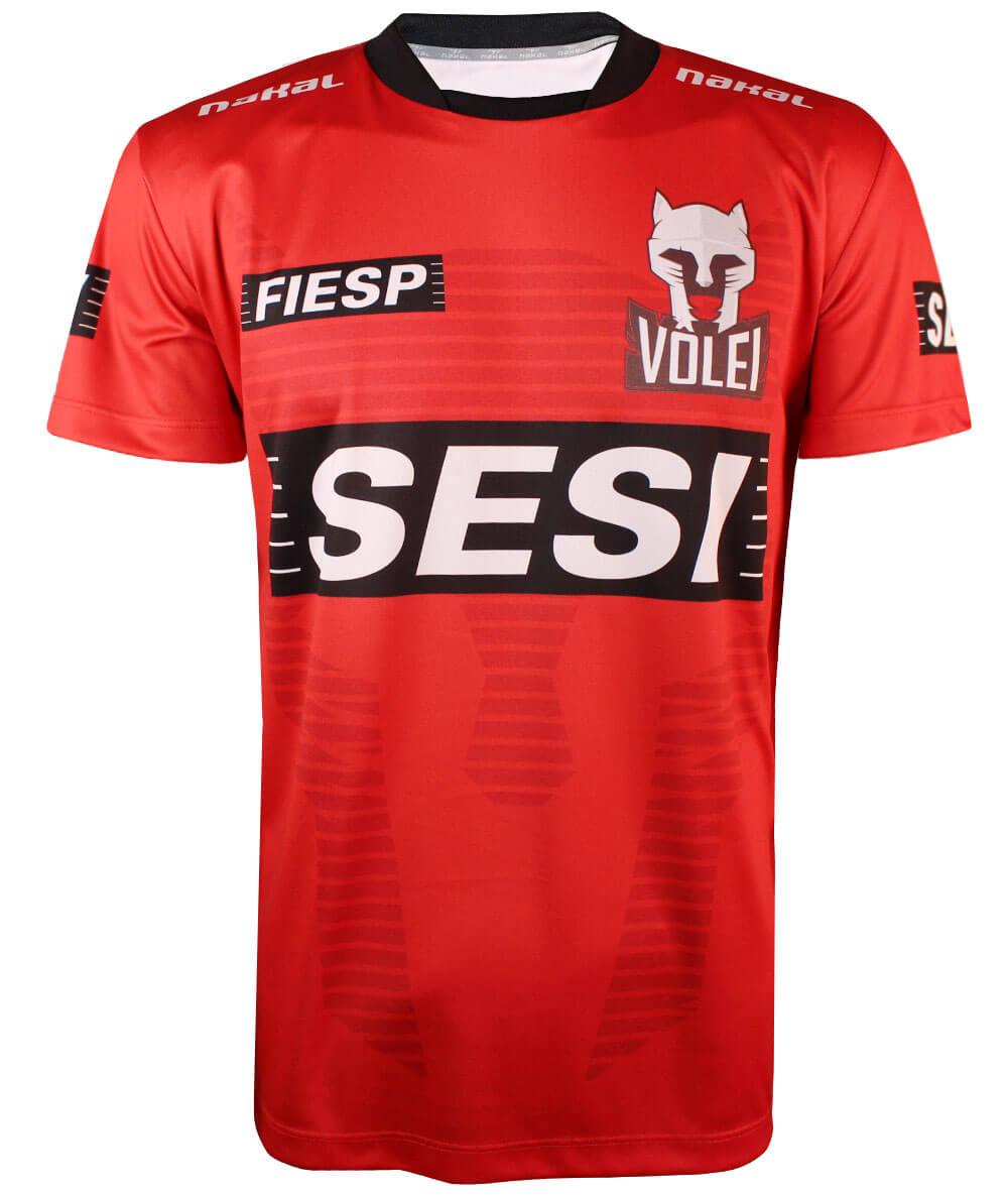 Camisa de Vôlei Sesi-SP Treino 2020/21 Vermelha - Masculina