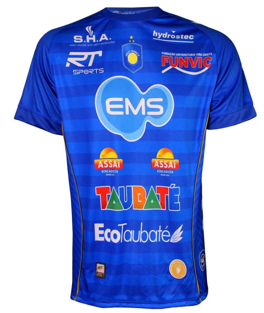 Camisa de Vôlei Taubaté 2019/20 Azul - S/Nº - Masculina