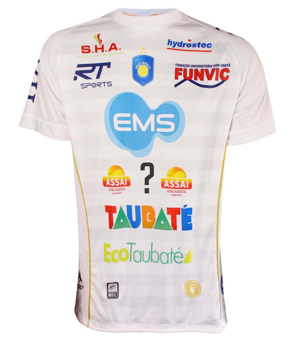 Camisa de Vôlei Taubaté 2019/20 Branca - Personalizada - Masculina