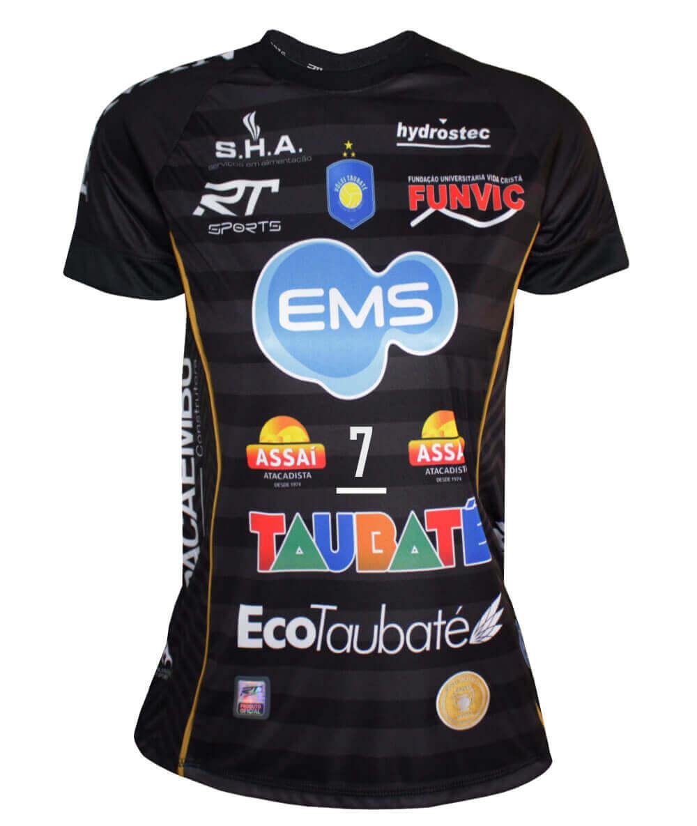 Camisa de Vôlei Taubaté 2019/20 Preta - N°7 Raphael - Feminina