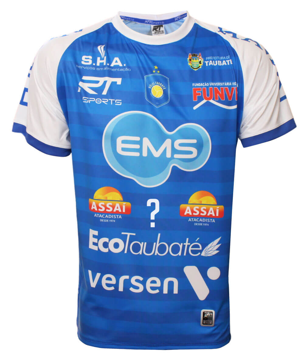 Camisa de Vôlei Taubaté 2020/21 Azul - Personalizada - Masculina