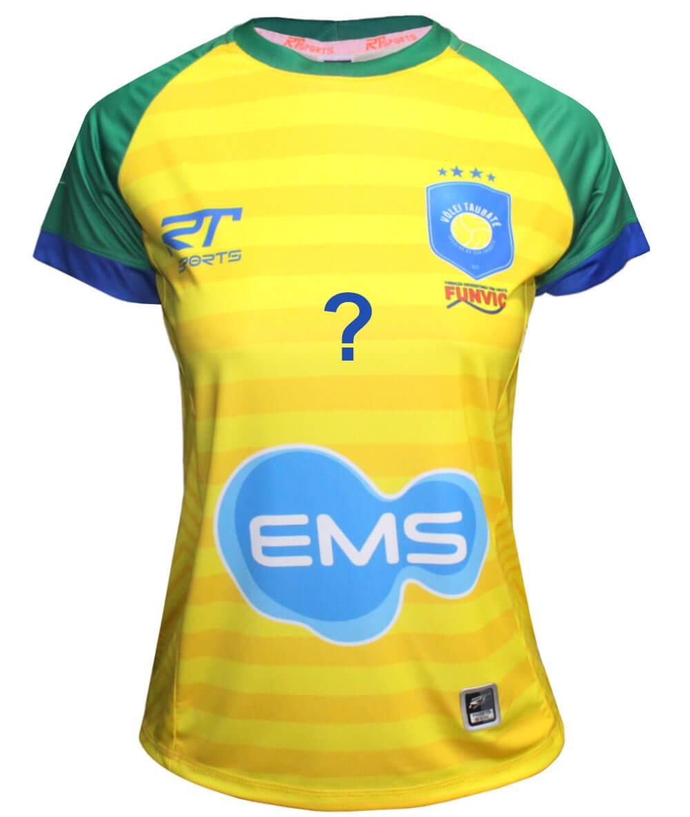 Camisa de Vôlei Taubaté Brasil - Personalizada - Feminina