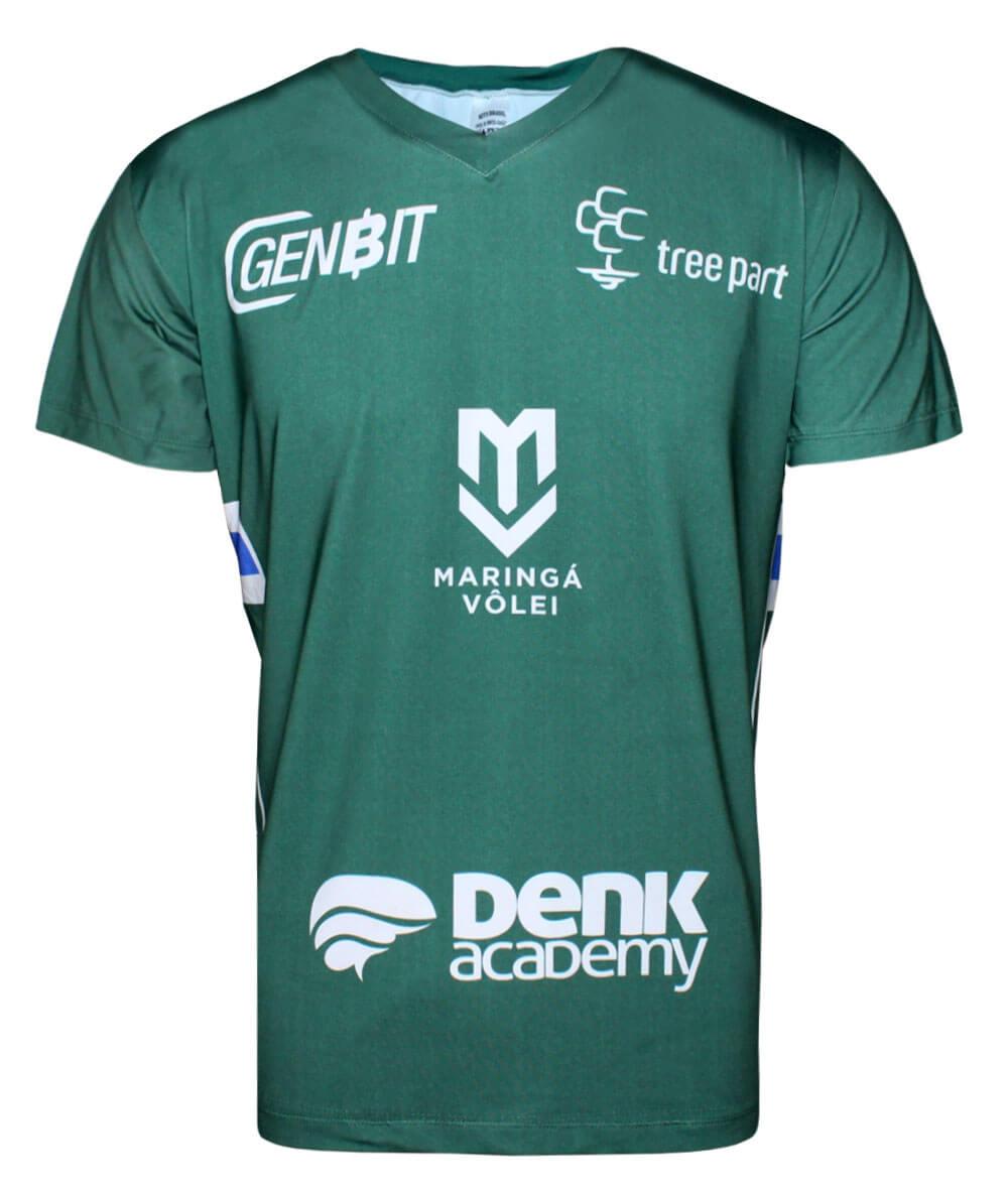 Camisa de Vôlei Treino Maringá 2019/20 Verde - S/Nº - Masculina
