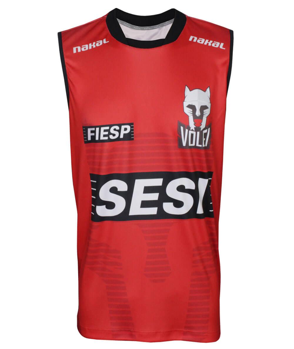 Camisa de Vôlei Treino Sesi-SP 2020/21 Vermelha - Masculina