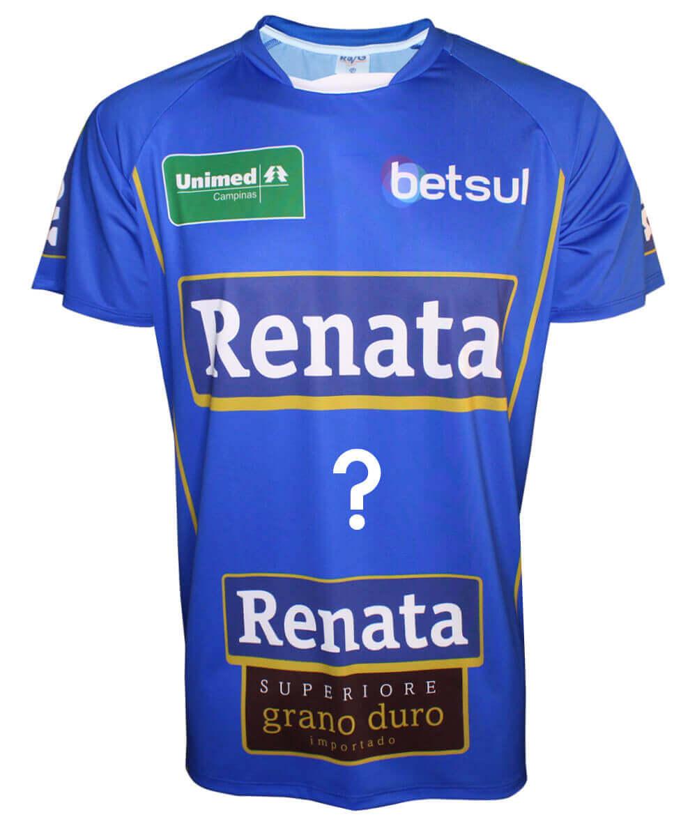 Camisa do Vôlei Renata 2019/20 Azul - Personalizada - Masculina