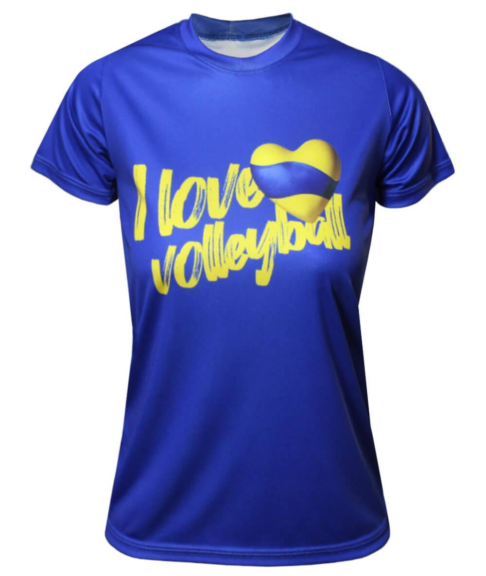 Camisa I Love Volleyball 2021/22 Azul - Feminina