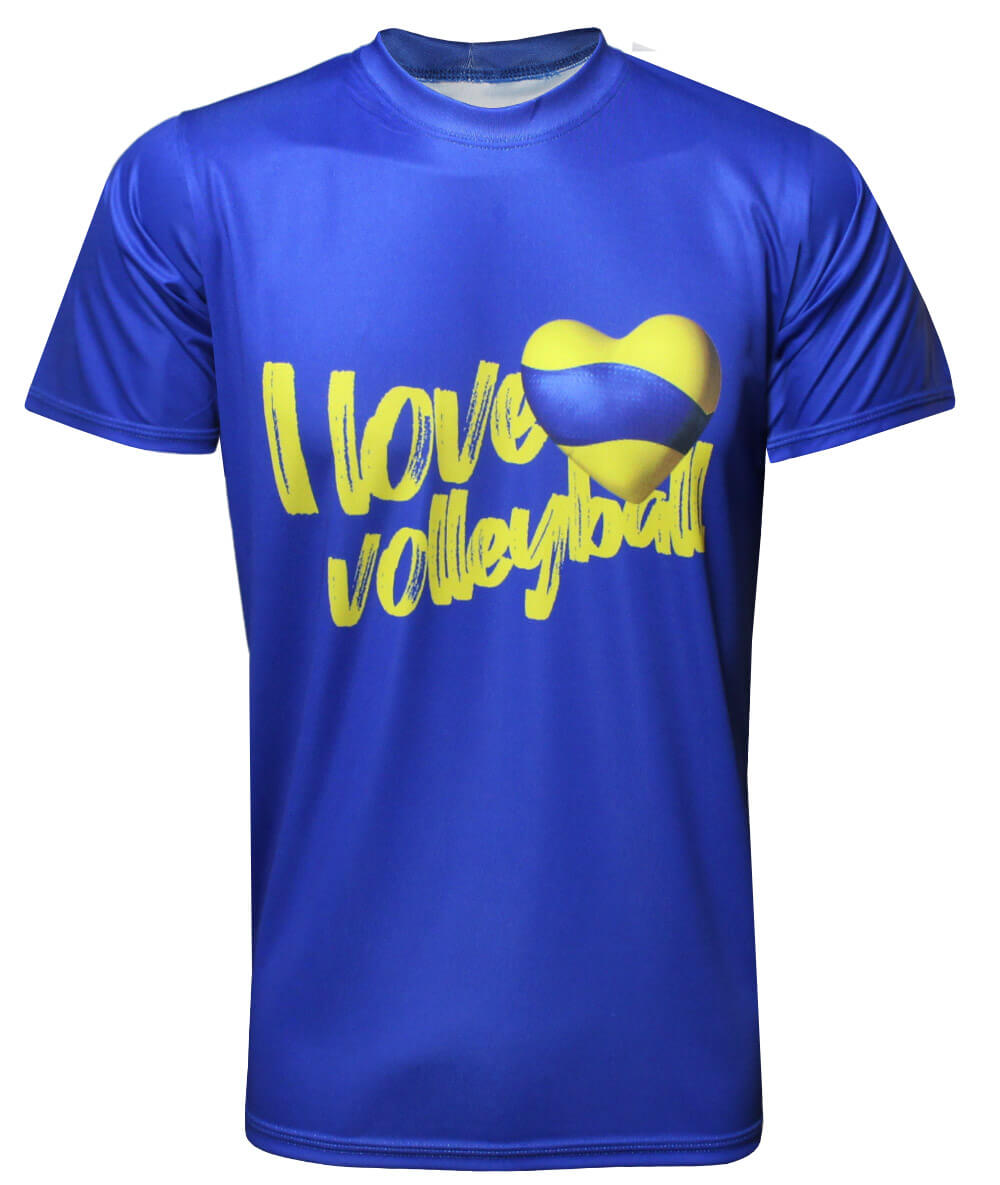 Camisa I Love Volleyball 2021/22 Azul - Masculina