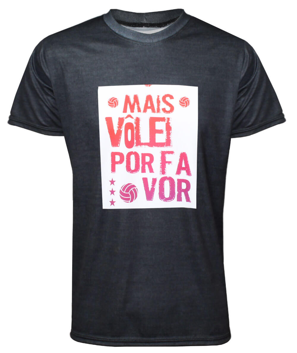 Camisa Mais Vôlei, Por Favor 2021/22 Mescla - Masculina