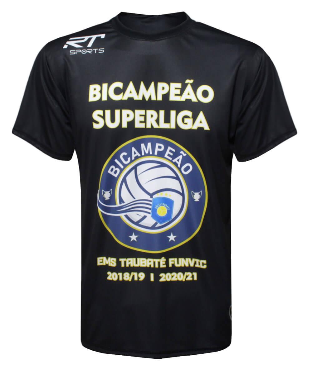 Camisa Vôlei Taubaté Bicampeão da Superliga Preta - Masculina